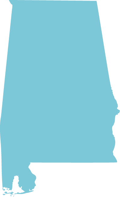 Alabama state graphic