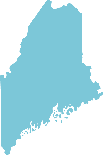 Maine state graphic
