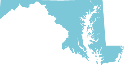 Maryland state graphic
