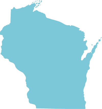 Wisconsin state graphic